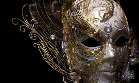 isolated golden mask