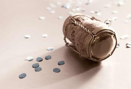 confetti with campagne cork 2