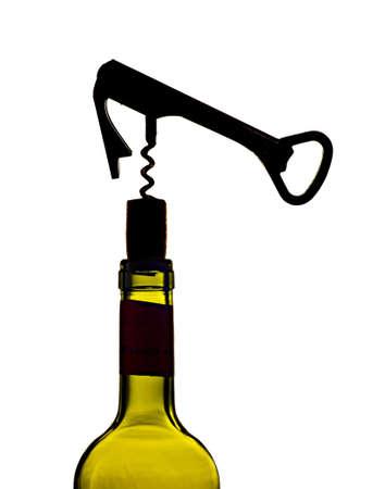 corkscrew at work Standard-Bild