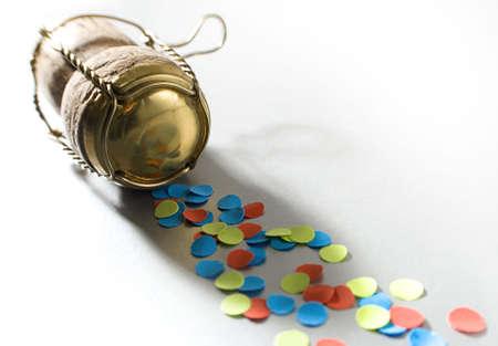confetti with campagne cork