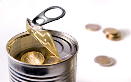 tinned: tinned euro horizontal Stock Photo