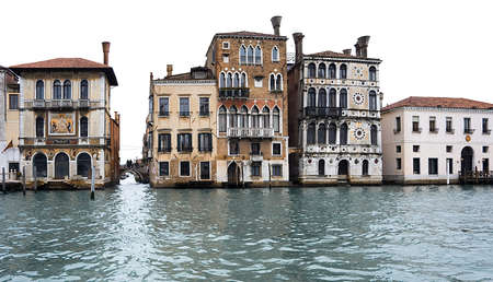 isolated venetian houses