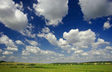 landsape with clouds
