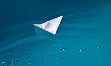 papership on water Standard-Bild