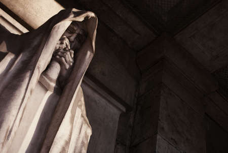 mortal statue from a graveyard