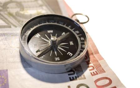 compass and euro Standard-Bild