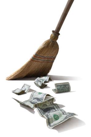 sweeper: dollar sweeper Stock Photo
