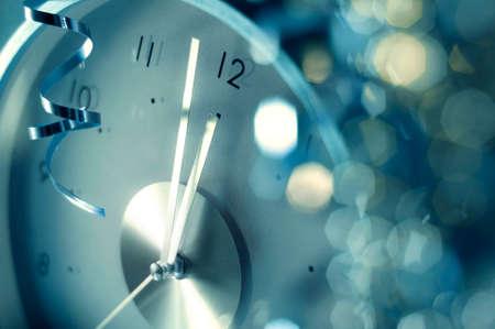 nouvel an: l'horloge nouvel an Banque d'images