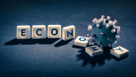 economic collapse - Coronavirus Destroys the Economy Standard-Bild