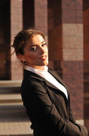 ourdoor: Business woman ourdoor portrait looking at camera