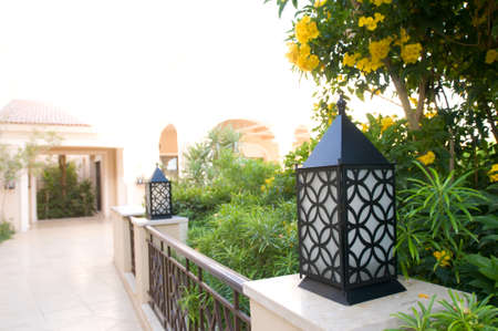 five star: Beautiful hotel exterior. Luxury five star complex in Egypt