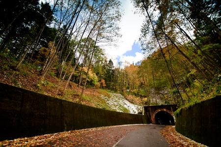 tunnel inside mountain