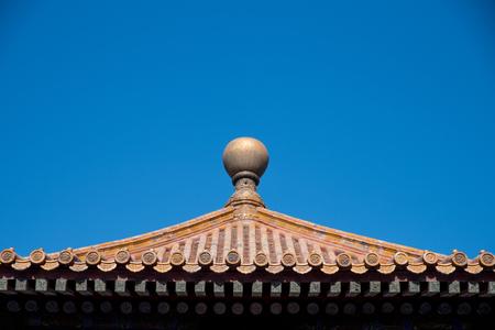 closeup of ancient Chinese building Фото со стока