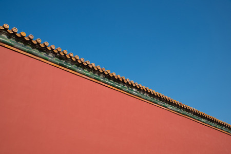 ancient chinese red wall design