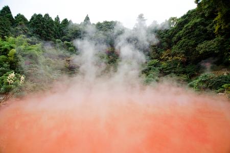 beppu blood springs, Japan Standard-Bild - 104463138