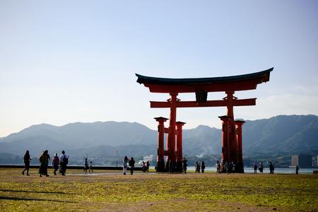 miyajima hiroshima, itsukushima shrine silhouette on the sea