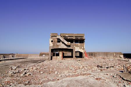abandoned island in Hashima Island Japan