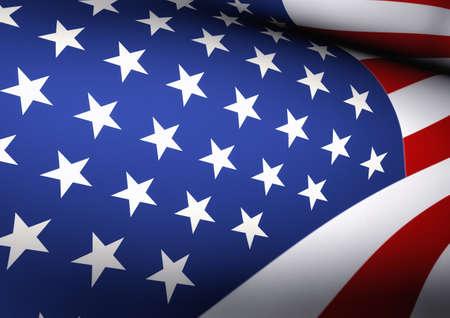 bandera estados unidos: American Flag Waving Close Up Ilustración