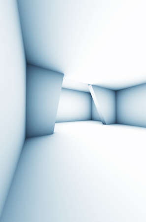 Absract Modern White Interior Room - Space 3d Illustration Stock Photo