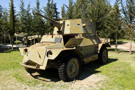 Ancient Tanks   Vehicles in Cyprus Open Air Museum - War Memorial