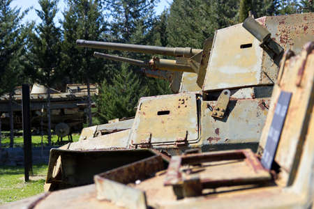 Ancient Tanks   Vehicles at North Cyprus Open Air Museum - War Memorial Editorial