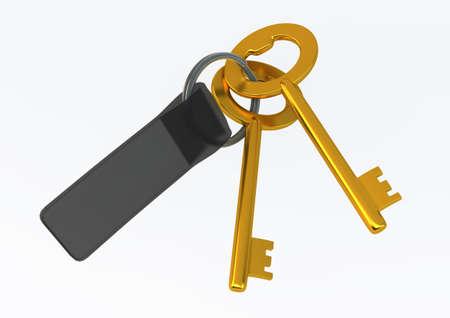 knickknack: House Keys with Labe Illustrationl isolated on white background Stock Photo