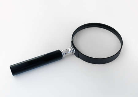 Magnifying Glass 3d Illustration isolated on white background Stock Illustration - 17371657