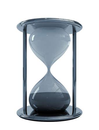 3d Illustration of Sandglass, isolated on white background Stock Photo