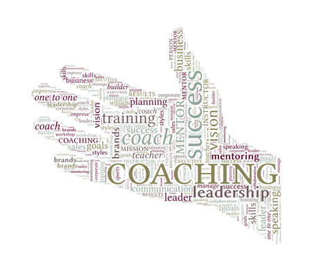 sales executive: Helping Hand Word Cloud - Coaching Concept