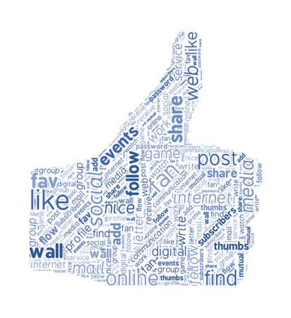 social event: Social Media Like Symbol Concept Word Cloud