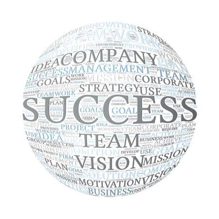 Teamwork Success Concept Word Cloud
