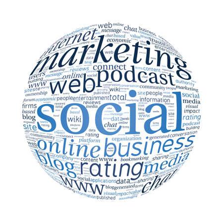 Social Marketing Concept Word Cloud