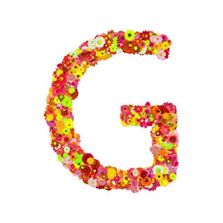 g alphabet: High Quality Raster Flower Alphabet G  Stock Photo