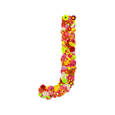 High Quality Raster Flower Alphabet J