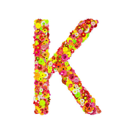 High Quality Raster Flower Alphabet K