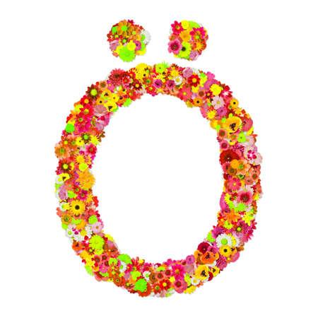 High Quality Raster Flower Alphabet O with breve