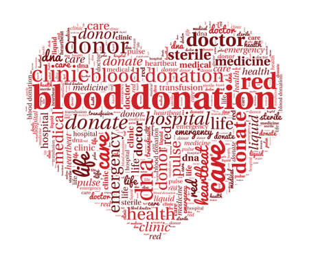 Blood Donation Concept in Word Cloud Vector