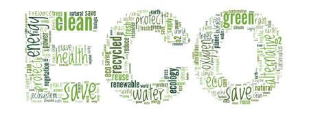 Eco Concept Word Cloud Illustration