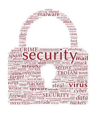 adware: Internet Security Concept - Padlock shaped word cloud