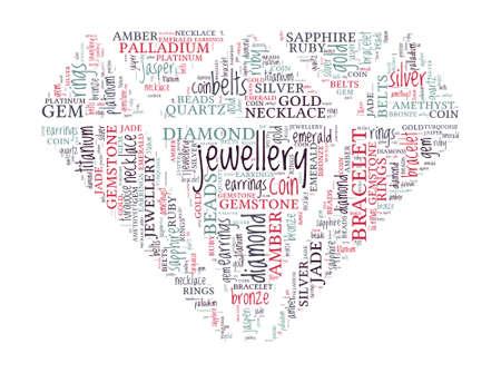 diamond shaped: Jewellery Concept - Diamond Shaped Word Cloud