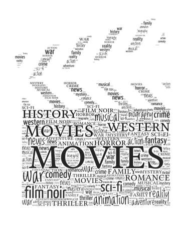 biography: Movie Concept - Clapboard shaped word cloud