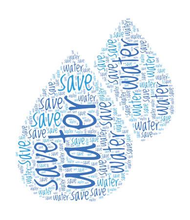 ahorrar agua: Save Water Concept Word Cloud