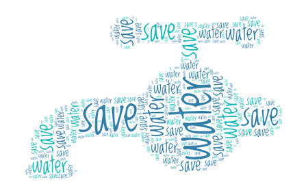 Tap Shaped Water Saving Concept Word Cloud