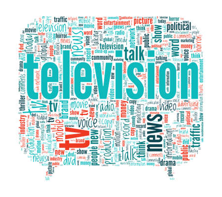 cloud tag: Television Concept Word Cloud