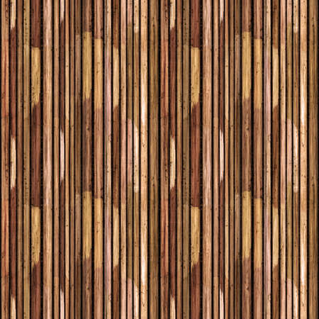 Seamless Traditional Wooden Bamboo Reed Texture Pattern Tile Close-Up Stock Photo