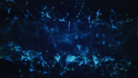3D Illustration of an Abstract Plexus Concept Background