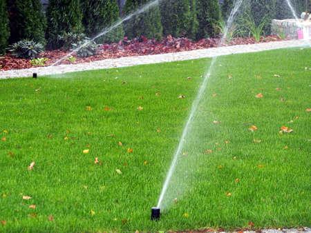 Tuin irrigatie - werken sprinkler