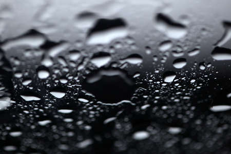 Rain drops on windows glass. Close-up of water droplets on glass, Rain Rain, Go Away