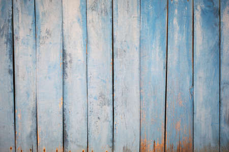 Vintage beach wood background - Old weathered wooden plank painted in turquoise or blue sea color.. Scandinavian or rustic concept backgrounds
