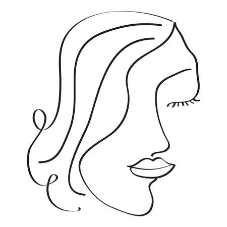 An minimalism abstract vector line drawing. Can be used for wall decoration, product packaging and other decorations